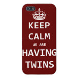 Keep Calm we are having twins iPhone 5 Case