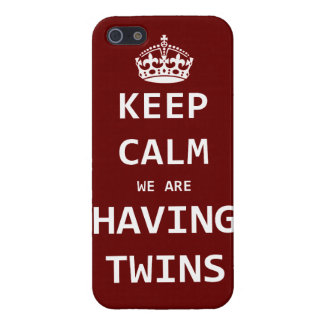 Keep Calm we are having twins iPhone 5 Covers