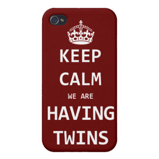 Keep Calm we are having twins iPhone 4/4S Cover
