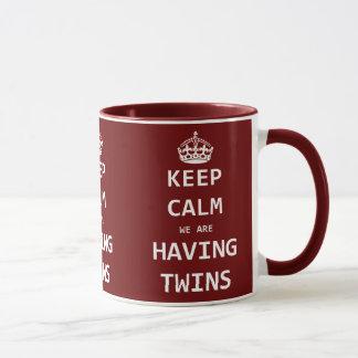 Keep Calm we are having twins Mug