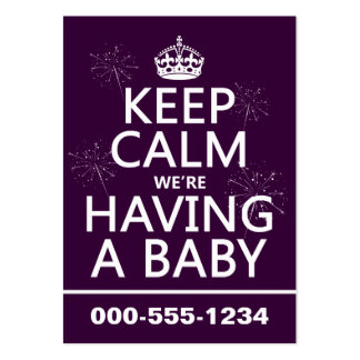 Keep Calm We re Having A Baby in any color Business Card Templates