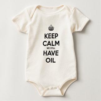 Keep Calm We Still Have Oil Baby Bodysuit