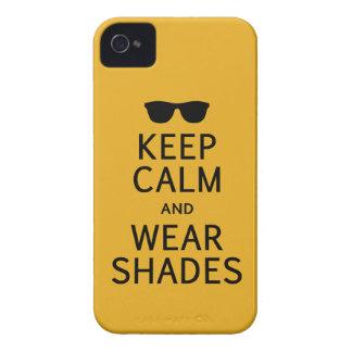 Keep Calm & Wear Shades Blackberry Bold case
