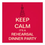 KEEP CALM Wedding Rehearsal Dinner Invite (Red)