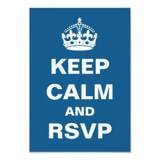 Keep Calm Wedding RSVP Card