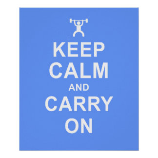 Keep Calm Weight Lifting Fitness Motivation Poster