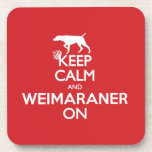 KEEP CALM WEIMARANER COASTERS SET OF 6