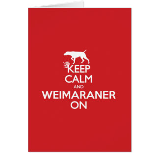 KEEP CALM WEIMARANER NOTECARDS BLANK CARD