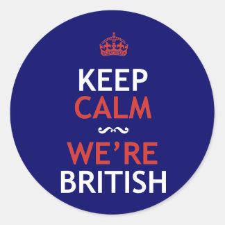 Keep Calm We're British Classic Round Sticker