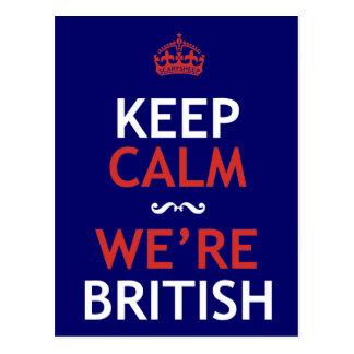 Keep Calm We're British Postcard