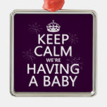 Keep Calm We're Having A Baby (in any color) Christmas Tree Ornament