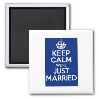 KEEP CALM we're JUST MARRIED (Blue) Magnet