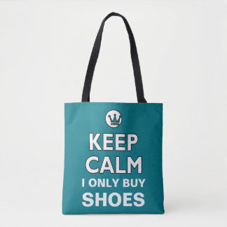 KEEP CALM white + your background & text Tote Bag