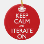 Keep calm wild duck iterate on ceramic ornament