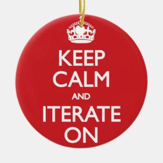 Keep calm wild duck iterate on ceramic ornament