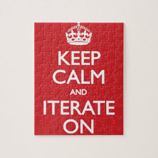 Keep calm wild duck iterate on jigsaw puzzle