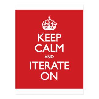 Keep calm wild duck iterate on postcard