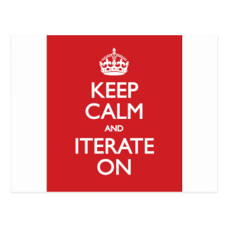 Keep calm wild duck iterate on post card
