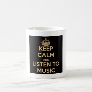 Keep calm wild duck the cunning to music mug