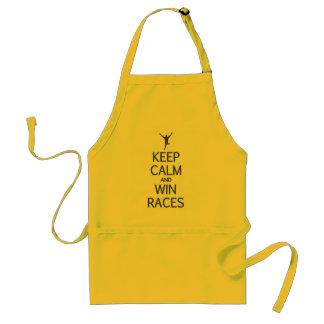 Keep Calm & Win Races apron - choose style, color