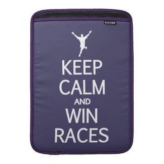 Keep Calm & Win Races MacBook sleeve