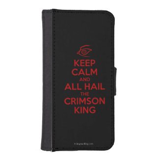Keep Calm with the Crimson King iPhone SE/5/5s Wallet