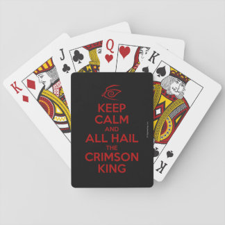 Keep Calm with the Crimson King Playing Cards