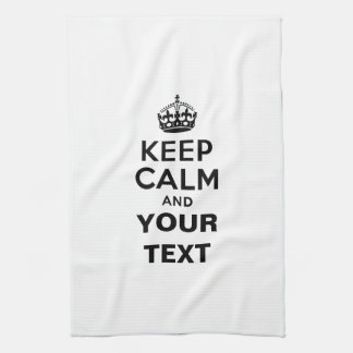 Keep Calm with Your Text Hand Towel