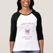 Keep Calm Women's 3/4 Sleeve Raglan T-Shirt