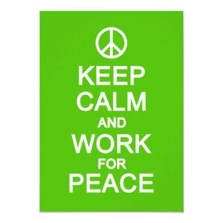 Keep Calm & Work for Peace, customize Card