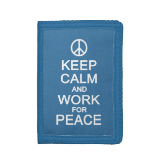 Keep Calm & Work For Peace wallets