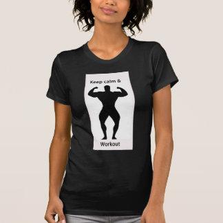 Keep calm & workout T-Shirt