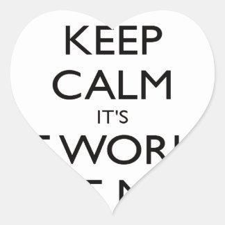 keep calm worlds Best mum mothers day gift Heart Sticker