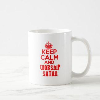 Keep Calm worship Satan Coffee Mug