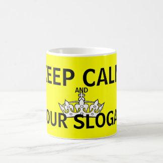 Keep Calm Yellow Mugs