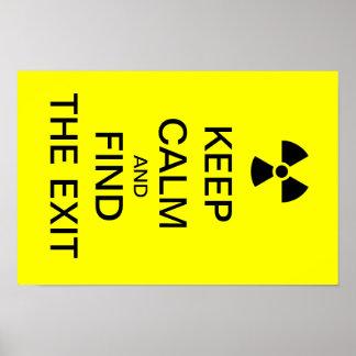 Keep calm yellow punk poster radioactive sign