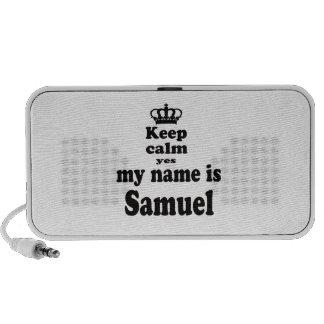 Keep Calm Yes My Name Is Samuel Mp3 Speakers
