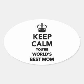 Keep calm you re worlds best mom sticker
