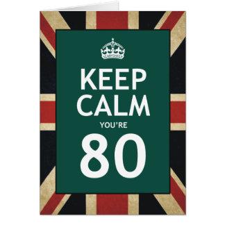 Keep Calm You're 80 Card