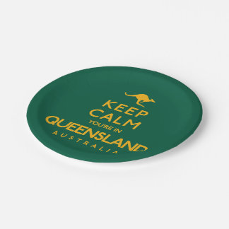 Keep Calm You're in Queensland! Paper Plate