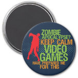 Keep Calm Zombie Apocalypse Funny Gamers Magnet