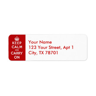Keep Cam and Carry On Return Address Labels
