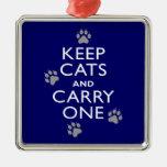 Keep Cats Christmas Ornament