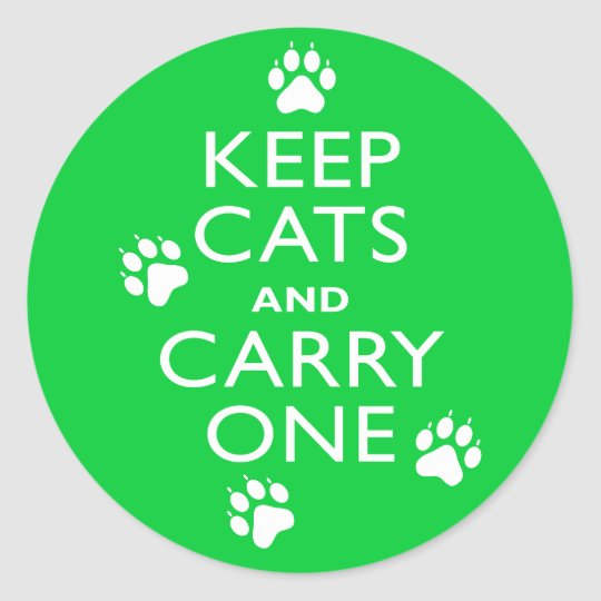 Keep Cats Classic Round Sticker