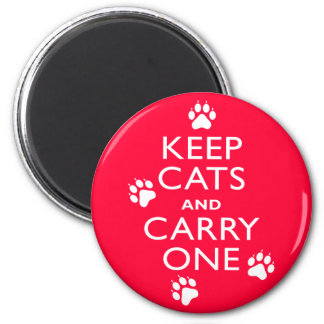 Keep Cats 2 Inch Round Magnet
