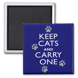 Keep Cats 2 Inch Square Magnet