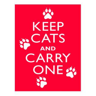 Keep Cats Postcards