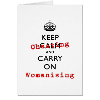 KEEP CHEATING CARD