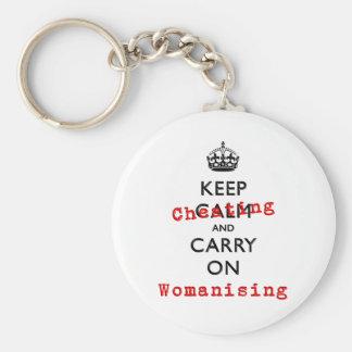 KEEP CHEATING KEYCHAIN