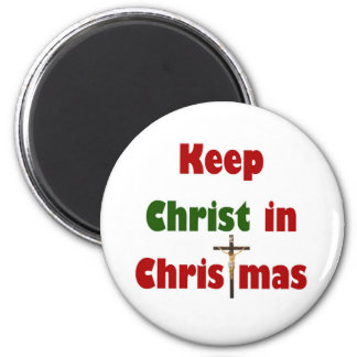 Keep Christ in Christmas 2 Inch Round Magnet